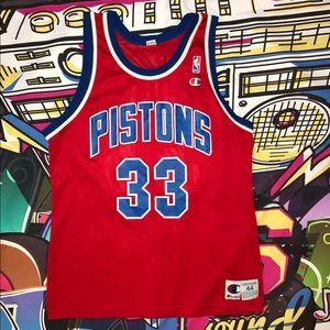 Detroit Pistons Grant Hill Basketball Jersey